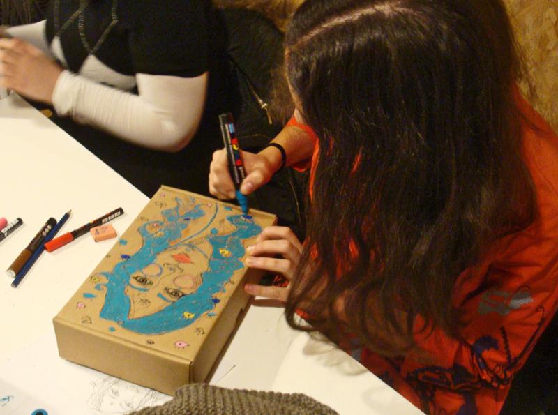 Los participantes mostraron sus dotes de artistas